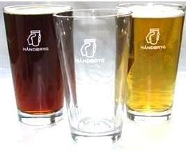 øl i håndbryg glas