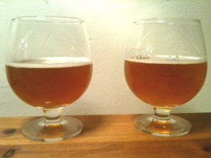øl i holmegårs glas